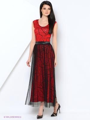 Костюм (платье+юбка) ADZHEDO. Цвет: черный, красный