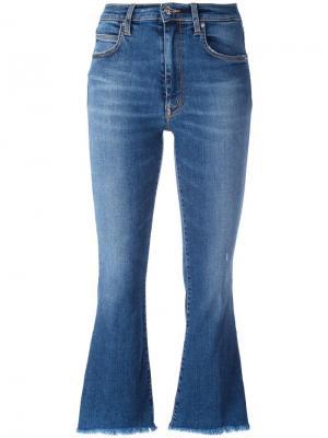 Укороченные джинсы Ingrid +People. Цвет: синий