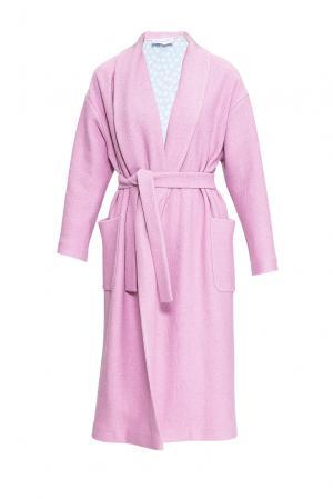 Пальто с поясом 163472 Private Sun. Цвет: розовый