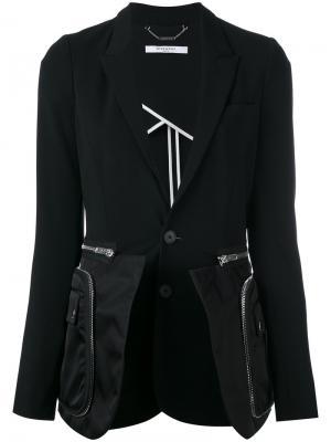Классический пиджак с молниями Givenchy. Цвет: чёрный