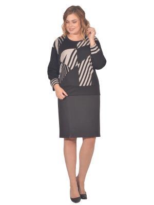 Кофточка Томилочка Мода ТМ. Цвет: черный, светло-серый