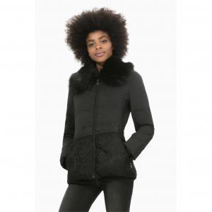Пальто на молнии с высоким воротником, Abrig Marisa DESIGUAL. Цвет: черный
