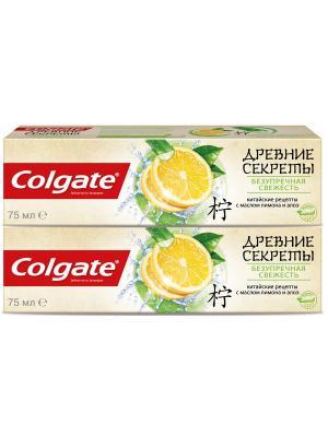 Зубная паста  промо древние секреты безупречная свежесть 2*75мл COLGATE. Цвет: белый