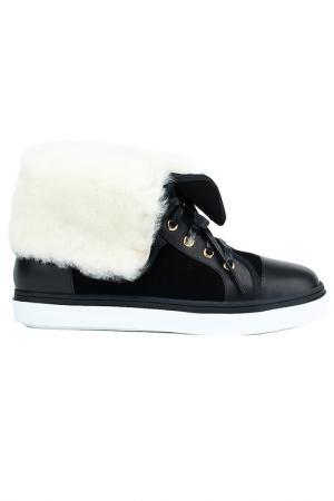 Ботинки NURIA. Цвет: черный, белый