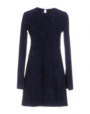 Короткое платье STOULS. Цвет: темно-синий