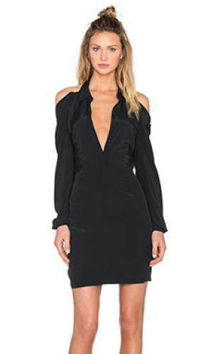 Платье off shoulder OLCAY GULSEN. Цвет: черный