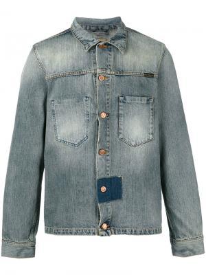 Джинсовая куртка со вставкой Nudie Jeans Co. Цвет: синий