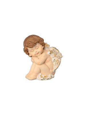 Фигурка декоративная Ангелочек спящий Elan Gallery. Цвет: бежевый, золотистый, коричневый