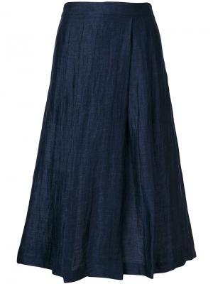 Расклешенная юбка миди Masscob. Цвет: синий