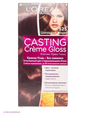 Стойкая краска-уход для волос Casting Creme Gloss без аммиака, оттенок 525, Шоколадный фондан L'Oreal Paris. Цвет: коричневый