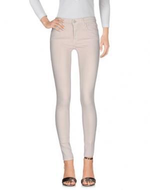 Джинсовые брюки (+) PEOPLE. Цвет: розовый