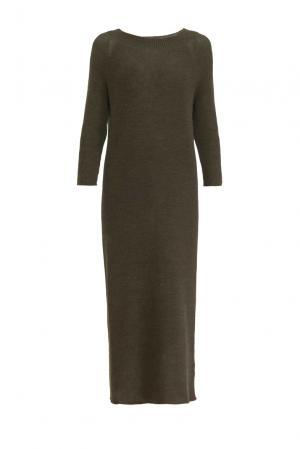 Платье из шерсти 153300 Norsoyan. Цвет: коричневый