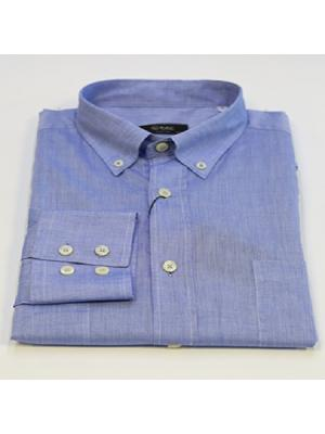 Сорочка мужская (дл.рукав)  REGULAR btc. Цвет: синий