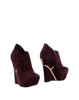 Ботинки ENIO SILLA for LE. Цвет: баклажанный