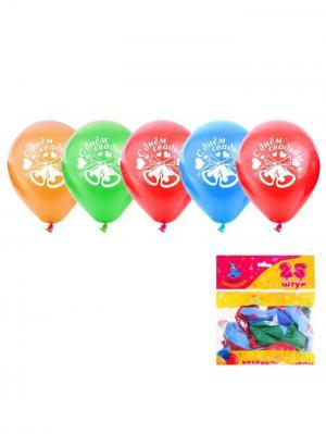 Набор воздушных шаров А М Дизайн. Цвет: лазурный, красный, светло-зеленый