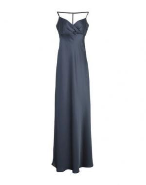 Длинное платье LALTRAMODA. Цвет: свинцово-серый