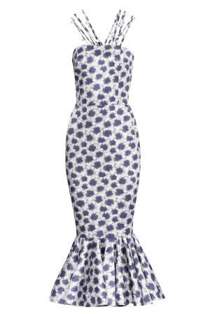 Платье из шелка 155471 Lolita Shonidi. Цвет: синий