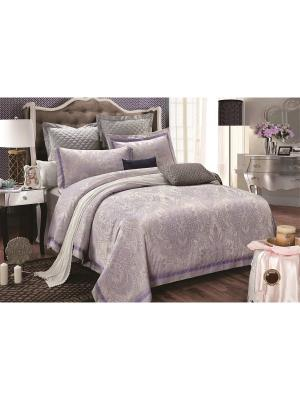 Комплект постельного белья ,2сп 50х70,сатин-жаккард Jardin. Цвет: сиреневый, бледно-розовый