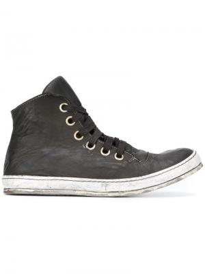 Хайтопы на шнуровке A Diciannoveventitre. Цвет: чёрный