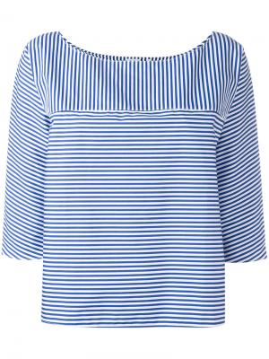 Striped round neck top Aspesi. Цвет: синий