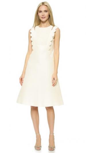Платье Double Cross Leur Logette. Цвет: белый