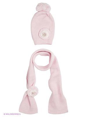 Комплект детский (шапка,шарф) R&I. Цвет: бледно-розовый