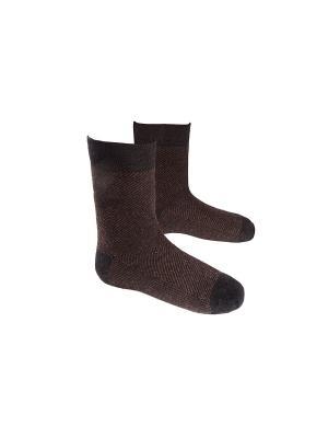 Носки MilanKo. Цвет: коричневый, черный