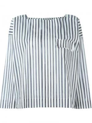 Рубашка в полоску Toogood. Цвет: белый