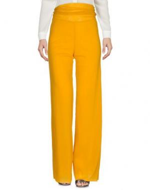 Повседневные брюки FUZZI. Цвет: желтый