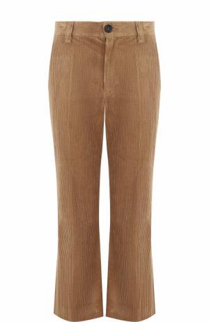 Расклешенные вельветовые брюки с карманами Marc Jacobs. Цвет: коричневый
