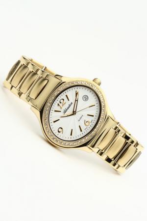 Часы наручные Adriatica. Цвет: желтый