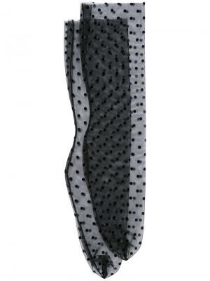 Носки из тюля в горох G.V.G.V.. Цвет: чёрный