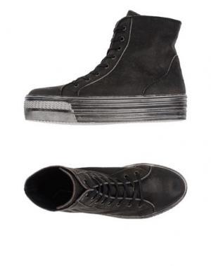 Высокие кеды и кроссовки PENELOPE. Цвет: стальной серый
