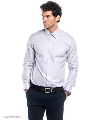 Рубашка INCITY. Цвет: светло-серый