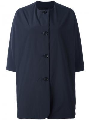 Свободное пальто Aspesi. Цвет: синий