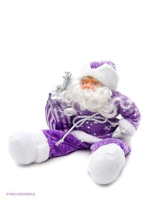 Кукла Дед Мороз 38 см, фиолет. Новогодняя сказка. Цвет: фиолетовый, белый