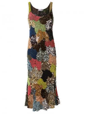 Embroidered midi dress Isabela Capeto. Цвет: многоцветный