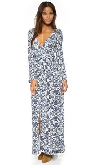 Макси-платье Turkish Baths Tigerlily. Цвет: лазурно-голубой