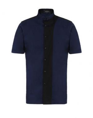 Pубашка GIULIANO FUJIWARA. Цвет: темно-синий