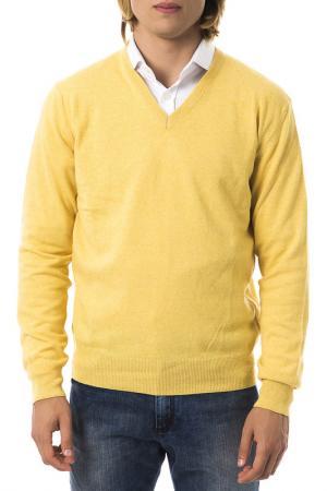 Пуловер UominItaliani. Цвет: желтый