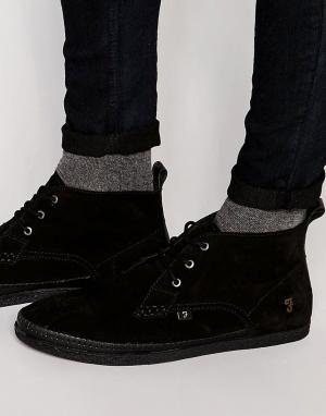 Farah Высокие ботинки чукка Drape. Цвет: черный