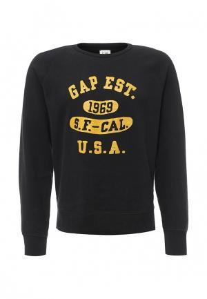 Свитшот Gap. Цвет: черный