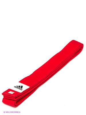 Пояс для единоборств Adidas. Цвет: красный