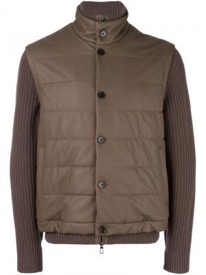Куртка с рукавами в рубчик Loro Piana. Цвет: коричневый