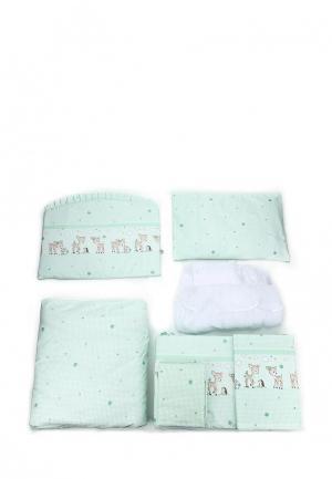 Постельное белье Сонный Гномик. Цвет: зеленый