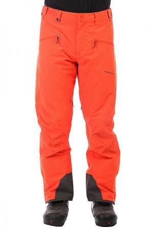 Штаны сноубордические  Boundry Mandarin Red Quiksilver. Цвет: оранжевый