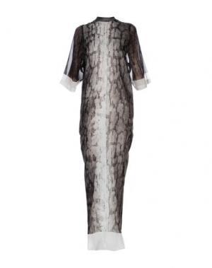 Длинное платье RICK OWENS. Цвет: серый