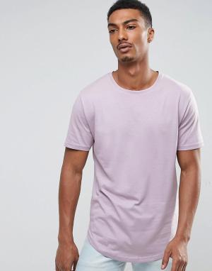 Troy Длинная футболка. Цвет: фиолетовый