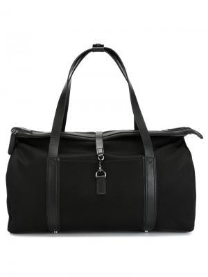 Дорожная сумка с кожаной отделкой Mismo. Цвет: чёрный