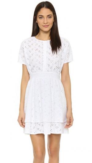 Кружевное платье Karlie Ryder. Цвет: белый